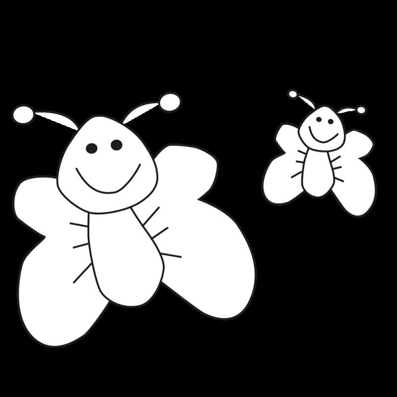 Ausmalvorlage Schmetterling