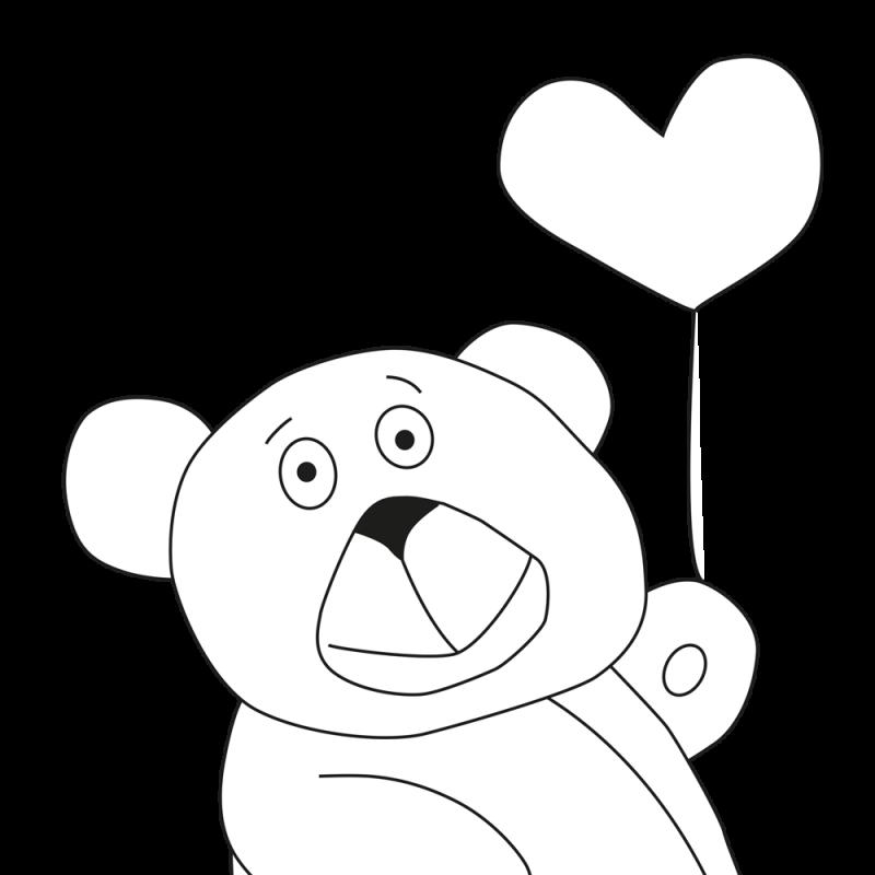 Ausmalvorlage Teddy