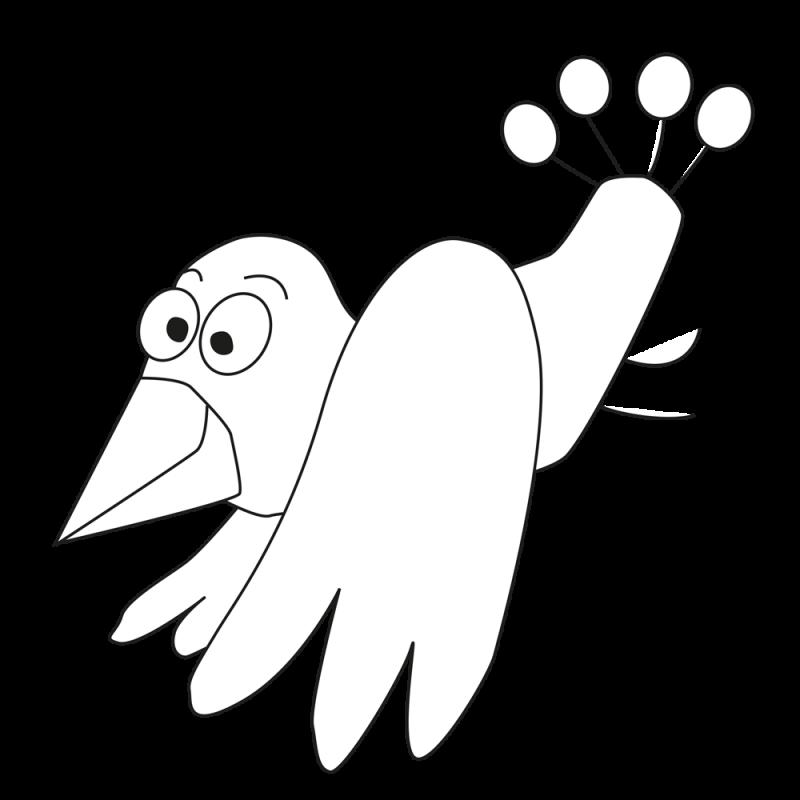 Ausmalvorlage Vogel